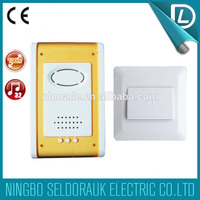 CE certification passed 32 pcs music & 100M DC apartment doorbell battery operated wireless security