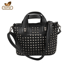 2015 decorative studs and rivets handbags with skull messenger shoulder bags
