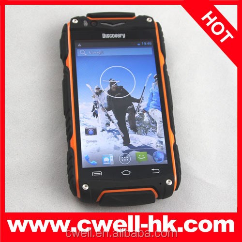 Discovery V8 android 4.2.2 MTK 6572 dual sim unlocked waterproof dual core gsm wcdma cheap rugged android mobile phone
