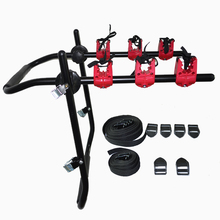 steel car rear mounted bike rack bicycle carrier for 3 bikes