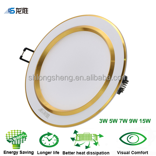 CE Rohs led recessed ceiling light downlight bulb 3w 5w 7w 9w 15w 3000K 4000K 5700K