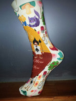 customized cotton, nylon,silk stockings by reactive printing