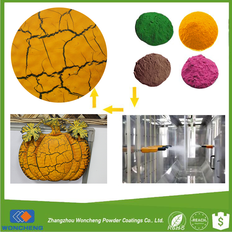 Customized crack effect epoxy powder coating for crafts semi gloss