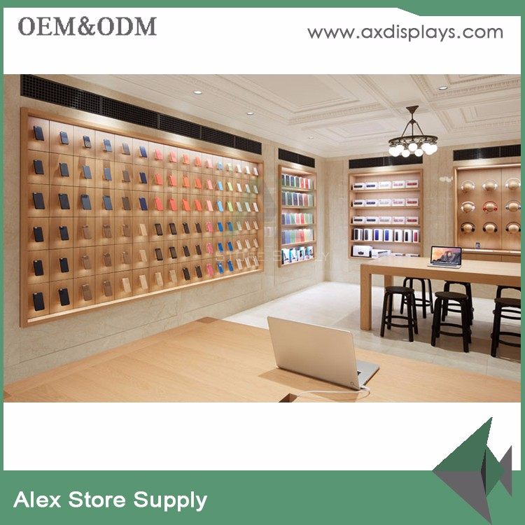 Retail Apple Display Table Store Counter Design for Mobile Phone Shop Interior Decoration