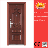 High quality steel safety flush door price SC-S013