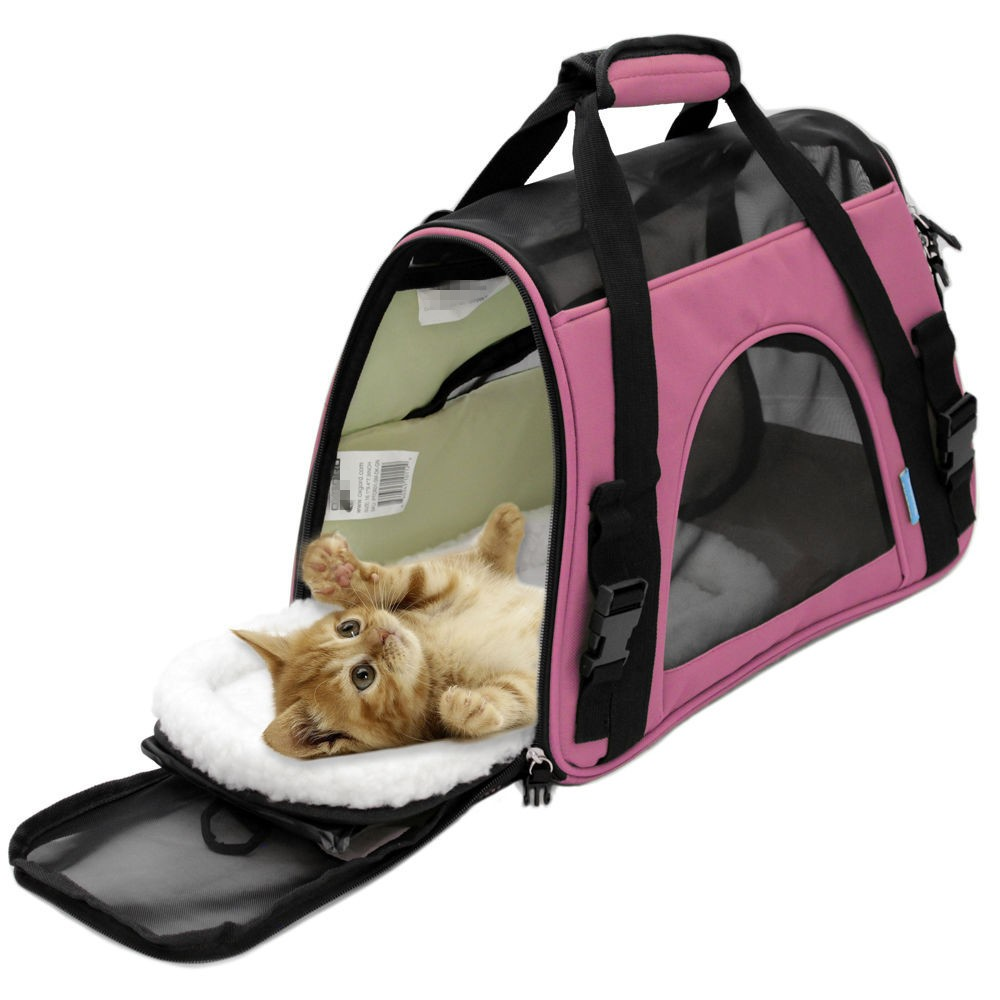2016 Foldable pet dog cat sling carrier with handle from China factory