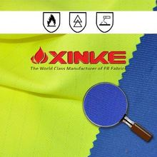 Polyester / Cotton yellow ,red ,orange fluorescent fabric for garment