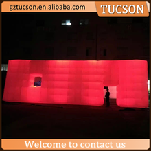 2016 attractive durable inflatable led cube tent for party event