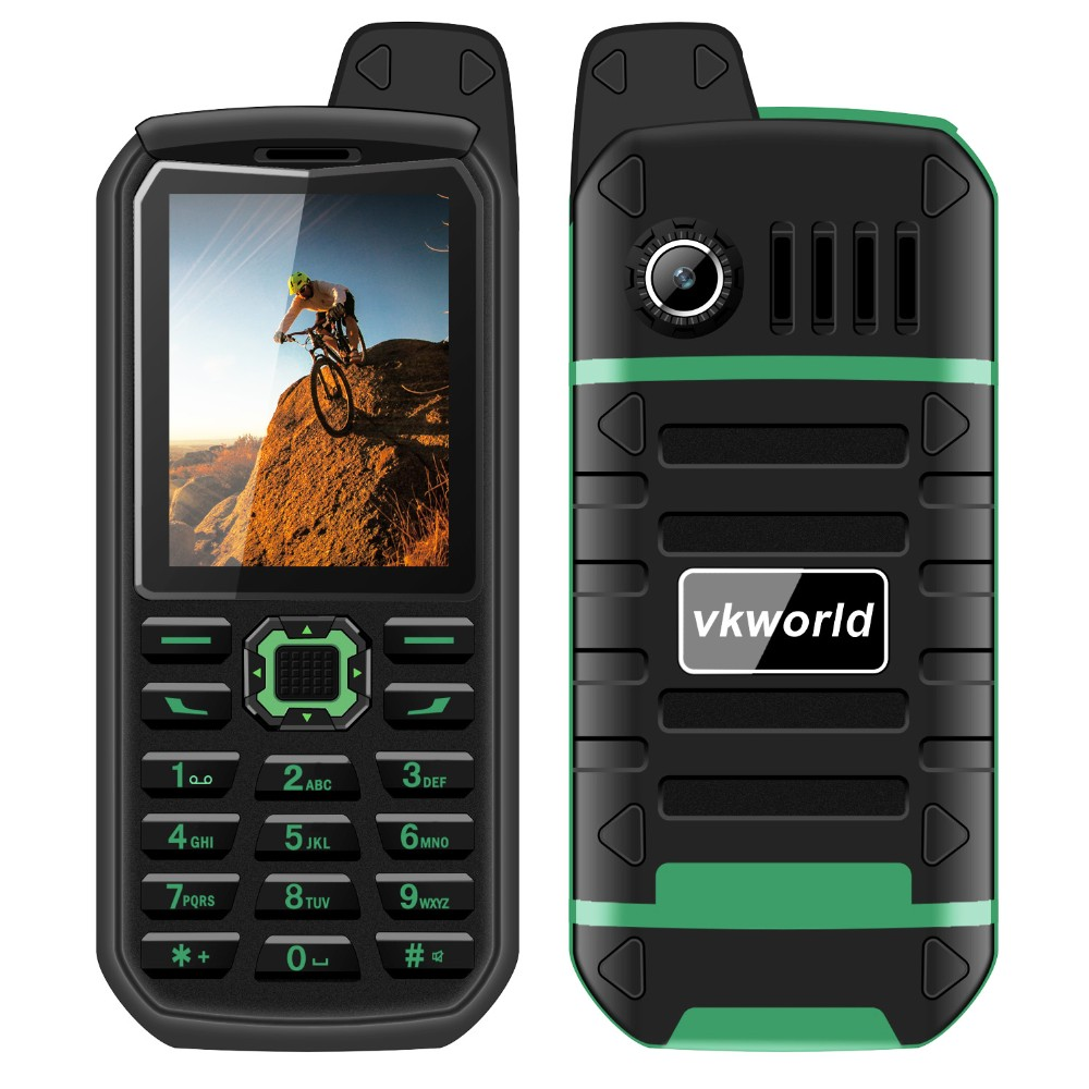 In Stock vkworld Stone V3 Plus 2.4inch 4000mAh Big Battery Big Keypad IP54 Waterproof Free Sample 2G Mobile Phone