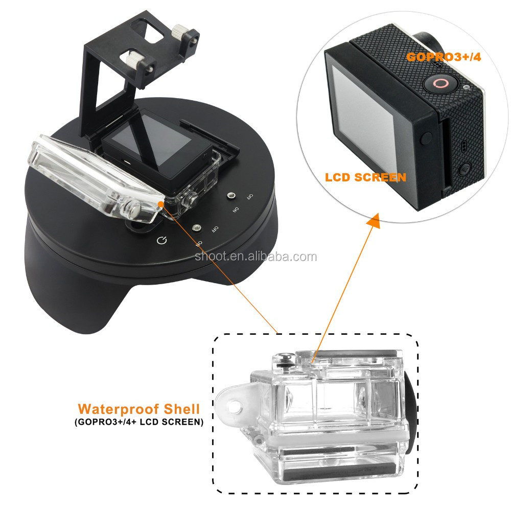 SHOOT Pro 6 inch for GoPro Waterproof Diving Dome Port with handheld stabilizer for GoPro Hero 3+/4