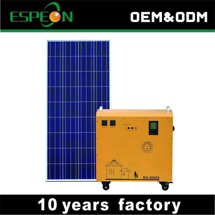 Multi-function Portable Solar Generator kit pack solar power system home