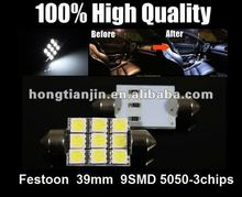 Festoon 39mm 9SMD led auto lighting