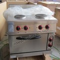 Restaurant Electric Cooking Range With 4 Round Hot Plate And Oven/Chinese Cooking Range
