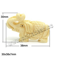 Carved elephant shape pendants natural animal Bone Beads for jewelry making