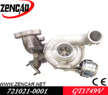 12 month warranty GT1749V(S2) GT1749VMV turbocharger for Leon 721021-0004, 721021-0005