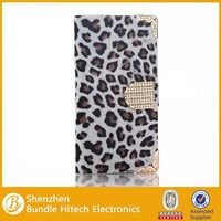 Hot Selling Leopard Pattern Wallet Flip Leather Case For Samsung Galaxy S6 Edge