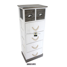 Shabby Cottage Chic Side End Table 6 drawer