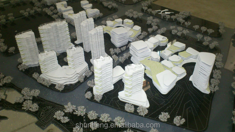 1/1000 scale model of textile business district planning