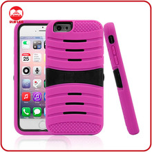2014 Hot Sale New 2 in 1 Hybrid Rugged Rubber Matte Hard Armor Kickstand Cover Case for Iphone6