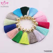 In Stock 65mm High Quality Keychain Tassel Gold Cap Silk Tassel
