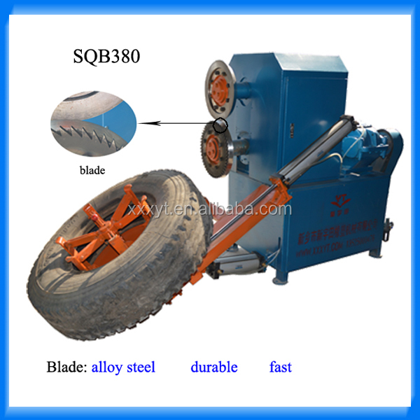 Waste tire sidewall cutting machine for pyrolysis plant