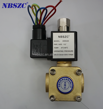 2016 hot selling normally open type high pressure water solenoid valve 12v dc