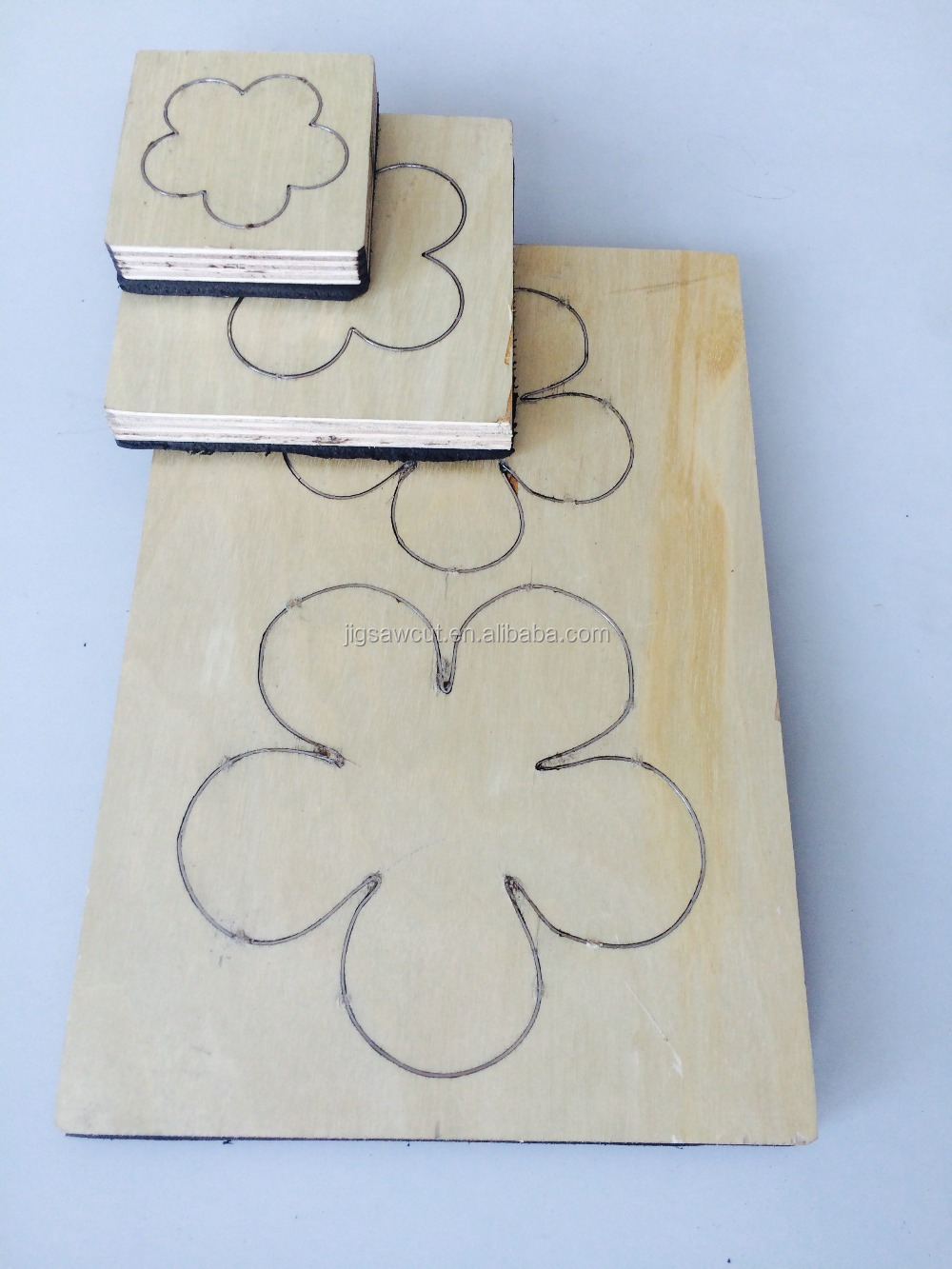 Simple Flower Wooden dies for scrapbooking, 23.8mm thick