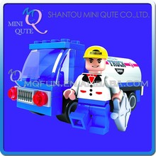 Mini Qute DIY kawaii city SUV cars vehicle oil tank truck action figure plastic building block brick educational toy NO.25203