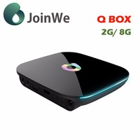 Good Quality Smart Tv Box Android Quad Core Qbox 2g+8g Rom Amlogic S905 Qbox 2.4g Wifi Kodi 16.0 Qbox Smart Tv Box
