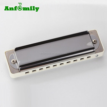 professional low price blues harp stainless steel plate harmonica with case