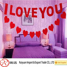 Wedding decoration 6 feet felt heart garland hot new products for 2015
