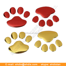 3D Car Emblem Animal Puppy Dog Paw Prints Badge with High Quality