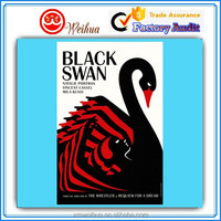 Custom Swan design printed Poster with Full Printing Solution for advertisement