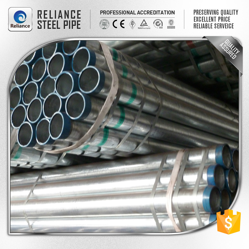 PRE GALVANIZED PIPE! PRE GALVANIZED STEEL TUBE! MADE IN CHINA