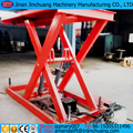 upright scissor lift platform for loading goods