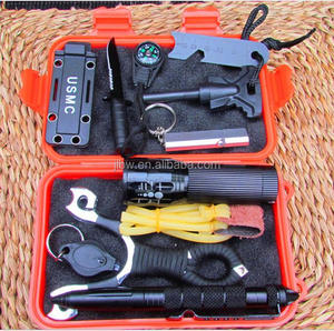 Outdoor Emergency Equipment Self-help Box Travel Survival Gear Tool Kits for camping