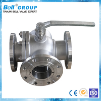 DN150 Manual 3-way ss304 Ball Valve