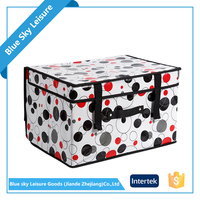 Well Sale Safety Item PP Non Woven Embossing Fabric Large Outdoor Garden Multipurpose Storage Box With Lid