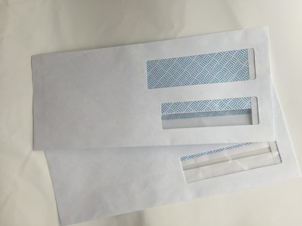Paper Envelope With Two Window/paper envelope pattern, security double window Envelopes, flip and seal