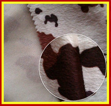 100% Polyester Short Hair Velour Knitting Fabric With Cow Skin Pattern For Lining,Sofa & Cushion