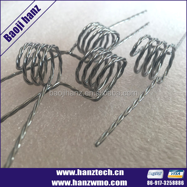 tungsten wire coils for electronic heating element