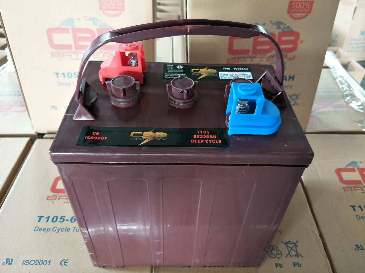 CE approved trojan deep cycle battery 8V170ah,T875 volt deep cycle battery operated golf carts