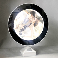 7x10 inch LED Photo Frame Magic Mirror Photo Frame Plastic Photo Frame Light Box Platform