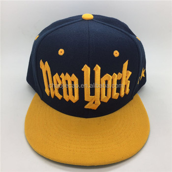 100% acrylic snapback cap with flat embroidery