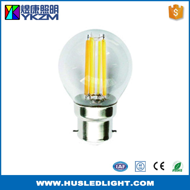 Direct factory price best quality e26 led g45 g14 filament candle bulb