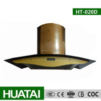 Golden Color Morden Design Stainless Steel Flat Filter Range Hood/Chimney