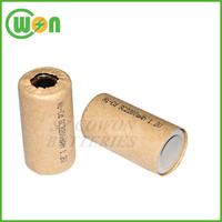 Rechargeable 1.2V nicd sc 1300mah rechargeable battery high quality nicd cell