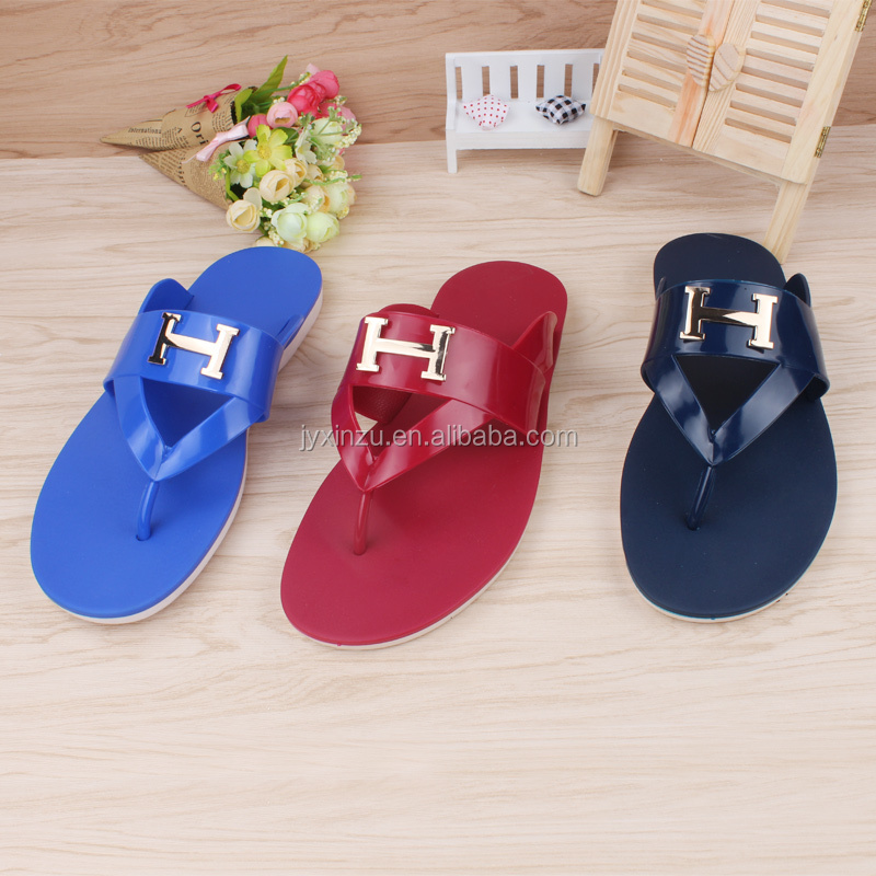 Comfortable men Shoes Stock Flip Flop Casual PVC Slipper