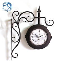 Victoria Station Double Side Wall Metal Clock Different Shape