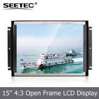15 inch open frame tft lcd monitor high brightness 1000cd/m2 optional HDMI VGA input custom display solutions